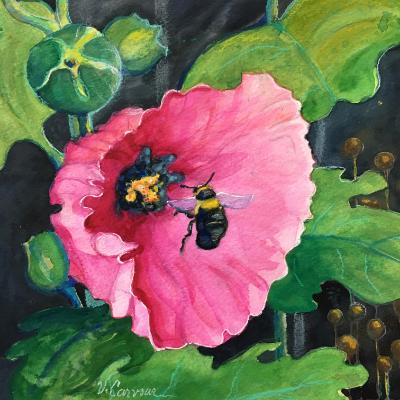 """""""Hollyhock and Bee"""""""