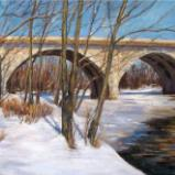 """Dublin Bridge in Winter"" SOLD"